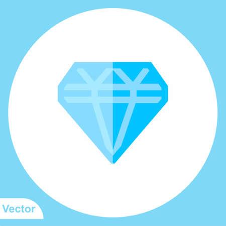 Diamond vector icon sign symbol Illusztráció