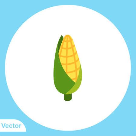 Corn vector icon sign symbol
