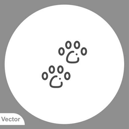 Paw print icon sign vector, Symbol, illustration for web and mobile