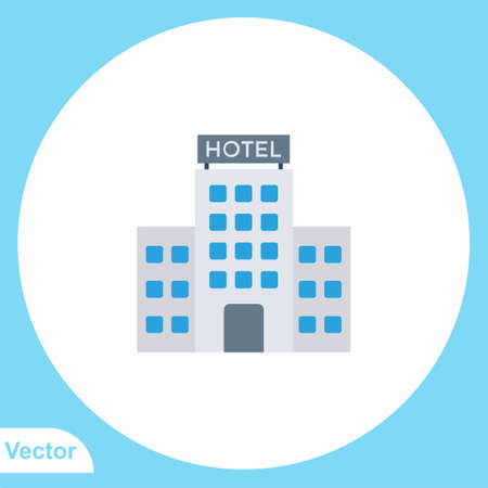 Hotel vector icon sign symbol