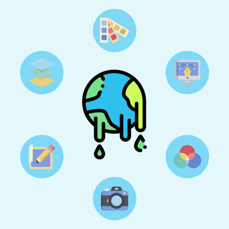 Global warming vector icon sign symbol 向量圖像