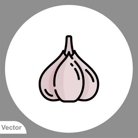 Garlic icon sign vector, Symbol, illustration for web and mobile Ilustracja