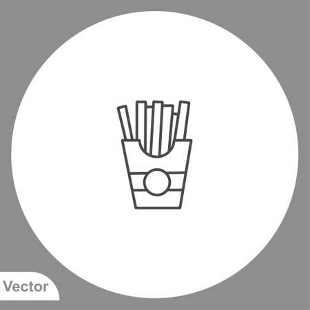 Fried potatoes icon sign vector, Symbol, illustration for web and mobile