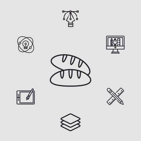 Bread vector icon sign symbol  イラスト・ベクター素材