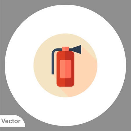 Fire extinguisher icon sign vector, Symbol, illustration for web and mobile