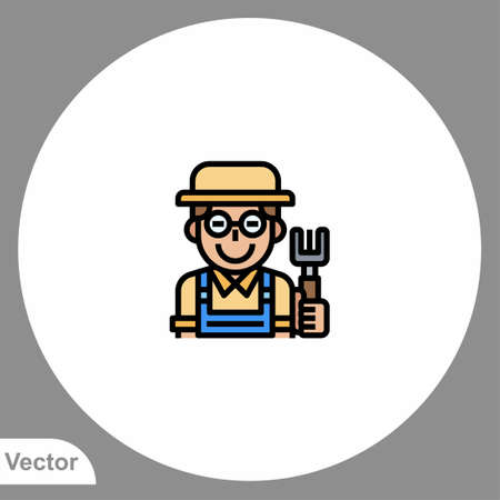Farmer icon sign vector, Symbol, illustration for web and mobile