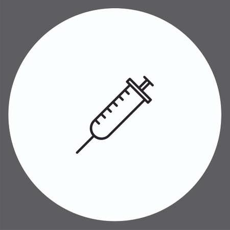 Syringe vector icon sign symbol