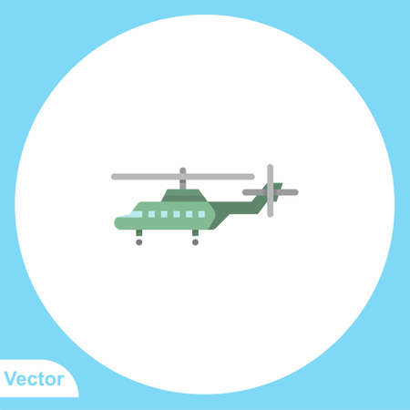 Helicopter flash vector icon sign symbol 向量圖像