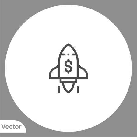 Rocket icon sign vector, Symbol, illustration for web and mobile