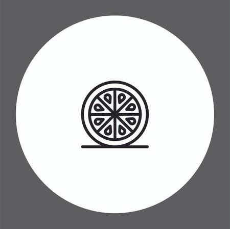 Orange vector icon sign symbol