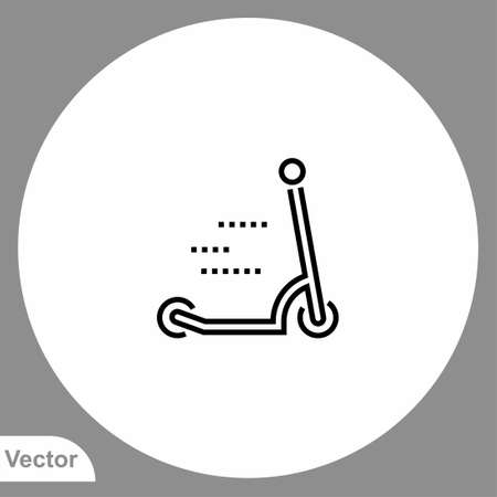 Kick scooter icon sign vector, Symbol, illustration for web and mobile