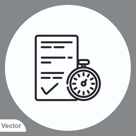 Stopwatch vector icon sign symbol