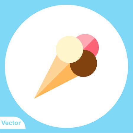 Ice cream vector icon sign symbol