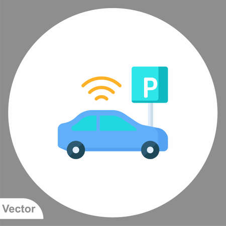 Parking icon sign vector, Symbol, illustration for web and mobile