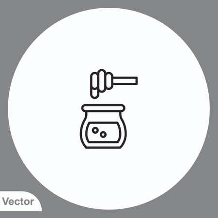 Honey vector icon sign symbol  イラスト・ベクター素材