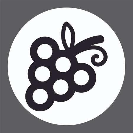 Grape vector icon sign symbol