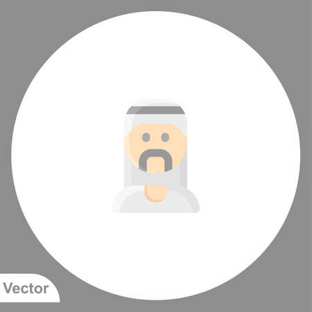 Muslim man icon sign vector, Symbol, illustration for web and mobile 向量圖像