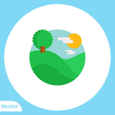 Mountain flat vector icon sign symbol