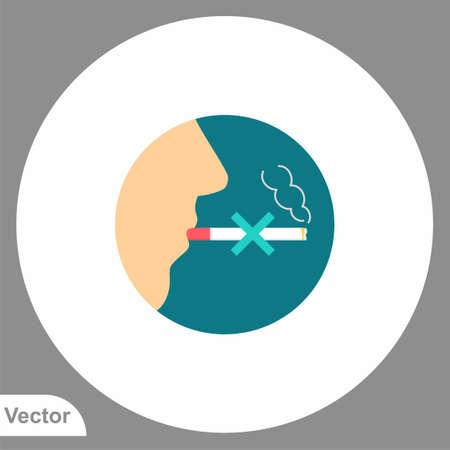 No smoking vector icon sign symbol