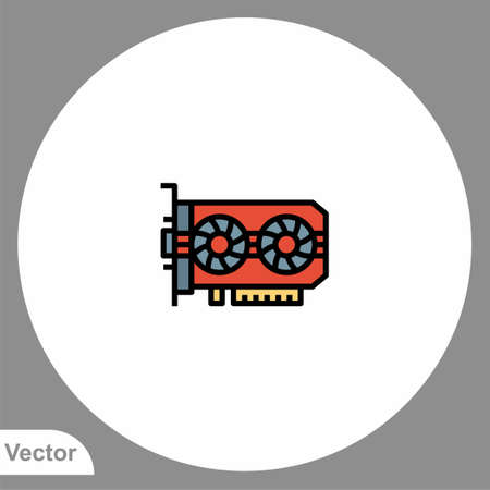 Graphic card icon sign vector, Symbol, illustration for web and mobile 向量圖像