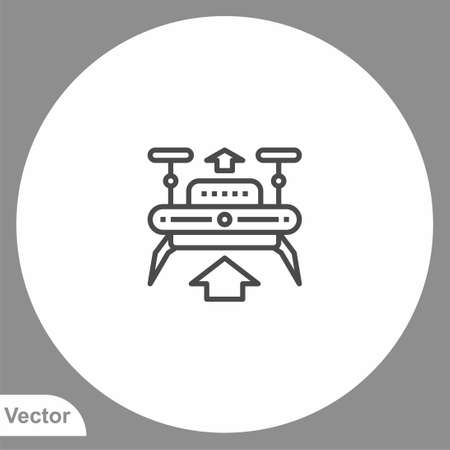 Drone icon sign vector, Symbol, illustration for web and mobile
