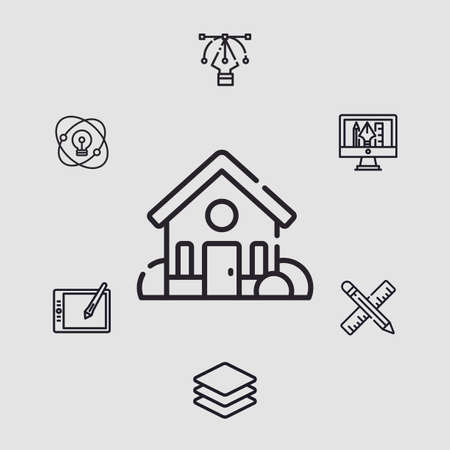Home vector icon sign symbol 向量圖像