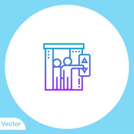 Elevator vector icon sign symbol  イラスト・ベクター素材