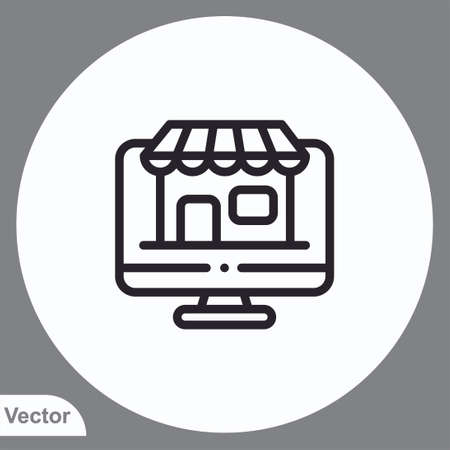 Online order vector icon sign symbol 向量圖像