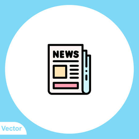 Newspaper vector icon sign symbol 向量圖像
