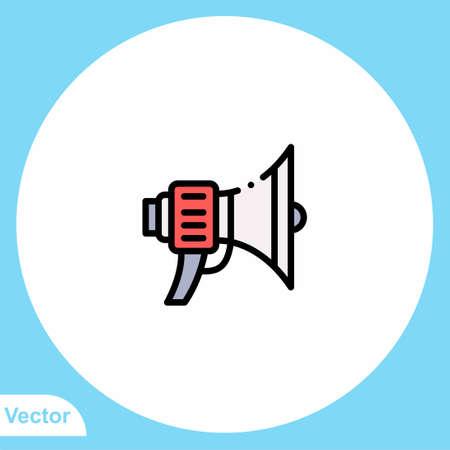 Megaphone vector icon sign symbol