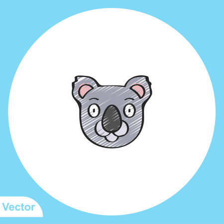 Koala vector icon sign symbol