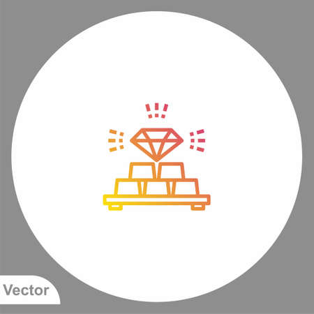 Gold bars icon sign vector, Symbol, illustration for web and mobile 向量圖像