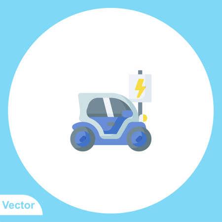 Electric car vector icon sign symbol
