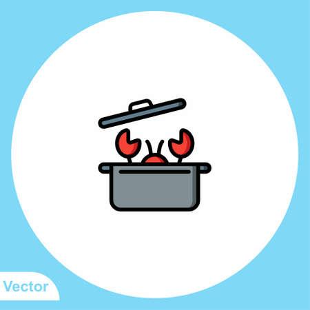 Lobster vector icon sign symbol