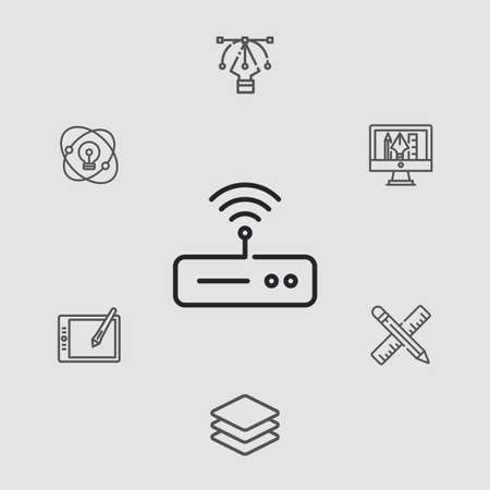 Modem and router vector icon sign symbol 向量圖像