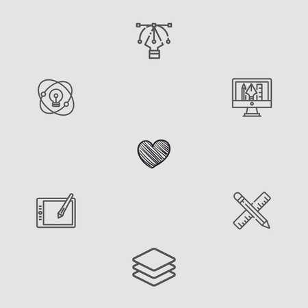 Heart vector icon sign symbol