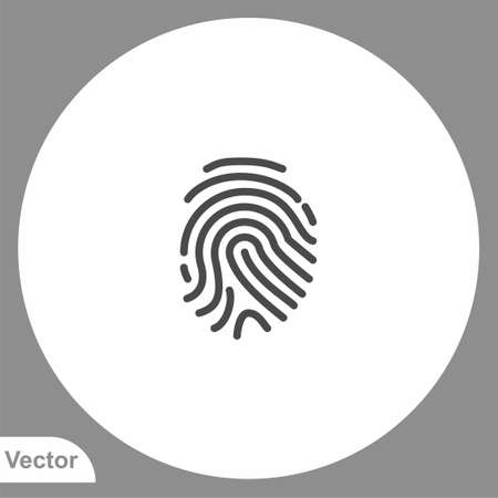 Fingerprint icon sign vector, Symbol, illustration for web and mobile