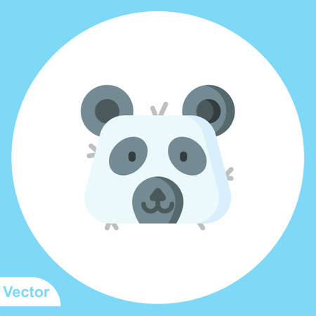 Panda vector icon sign symbol