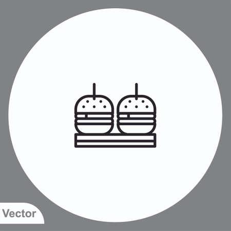 Burger vector icon sign symbol  イラスト・ベクター素材