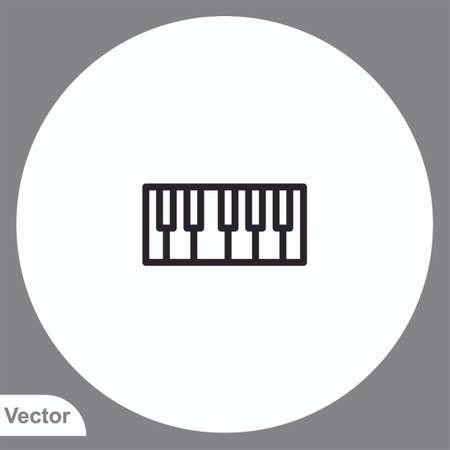 Piano vector icon sign symbol