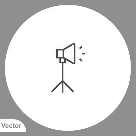 Spotlight icon sign vector, Symbol, logo illustration for web and mobile