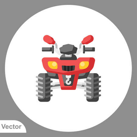 Atv icon sign vector, Symbol, logo illustration for web and mobile