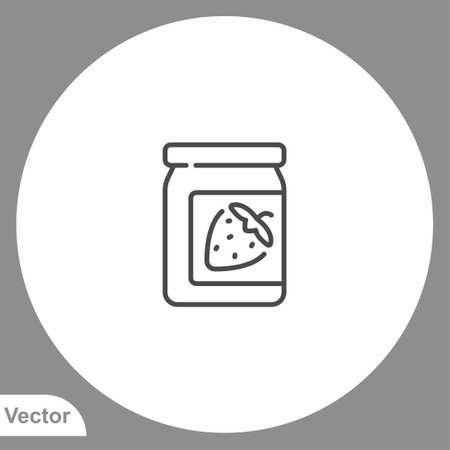 Jam icon sign vector, Symbol, logo illustration for web and mobile Иллюстрация