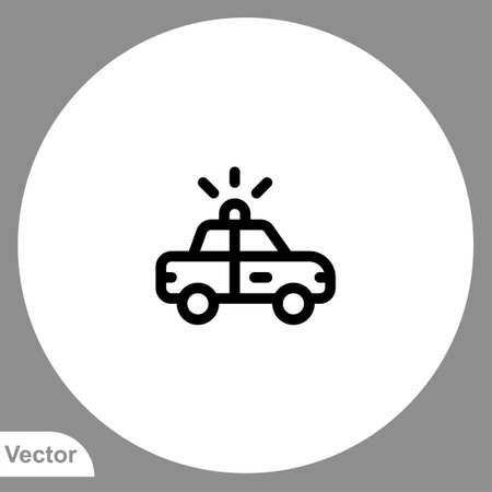 Police car icon sign vector, Symbol, logo illustration for web and mobile