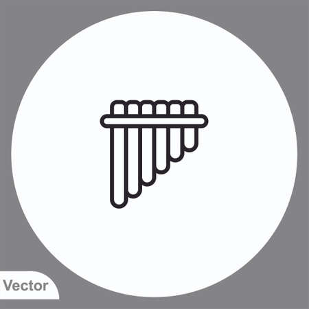 Flute vector icon sign symbol