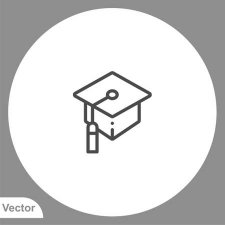 Mortarboard icon sign vector, Symbol, logo illustration for web and mobile
