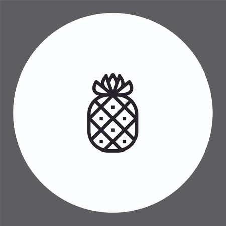 Pineapple vector icon sign symbol Ilustracja
