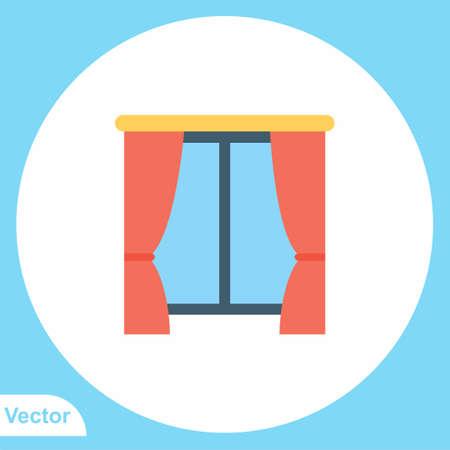 Curtain vector icon sign symbol Ilustrace