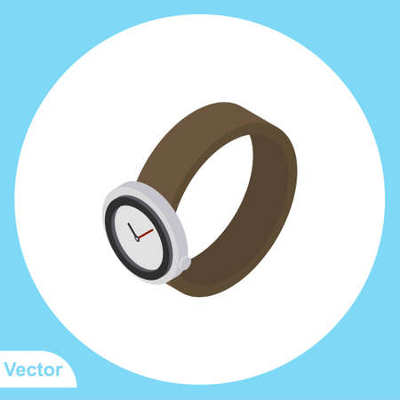 Wristwatch vector icon sign symbol Illustration