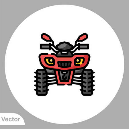 ATV icon sign vector,Symbol, logo illustration for web and mobile